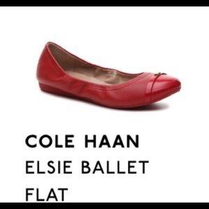 Cole Haan Red Ballet Flat
